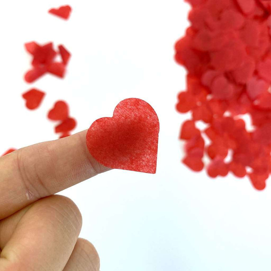 20g 2.5cm Heart Shaped Tissue Paper Confetti Table Scatters - Red