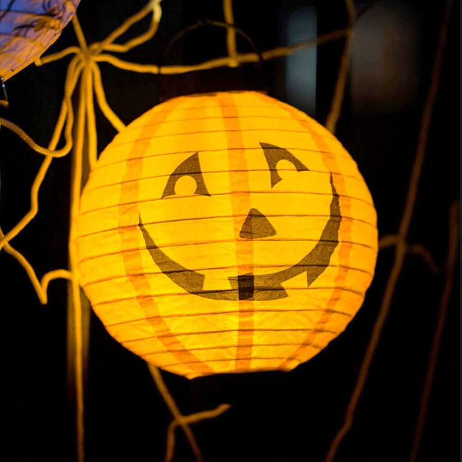 20cm Halloween Paper Lantern with LED Light - 6 Styles