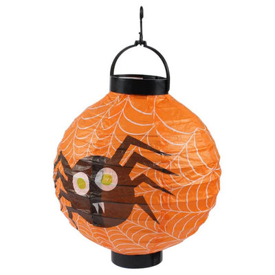 20cm Halloween spooky spider web decorative hanging paper lantern