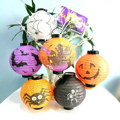 20cm Halloween Paper Lantern - 6 Styles - Happy Halloween Party Supplies & Decorations