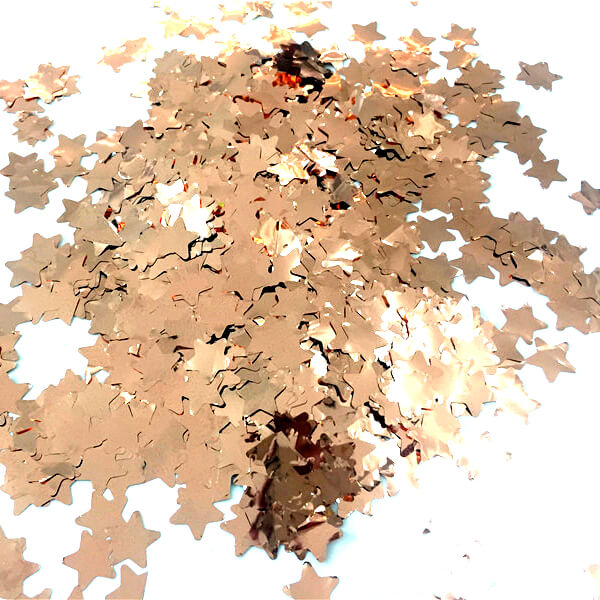 20g 1.5cm Online Party Supplies Metallic Rose Gold Star Shaped Foil Confetti Table Scatters