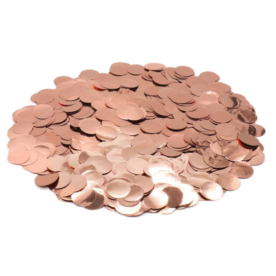 20g Big Metallic Rose Gold Wedding Foil Confetti