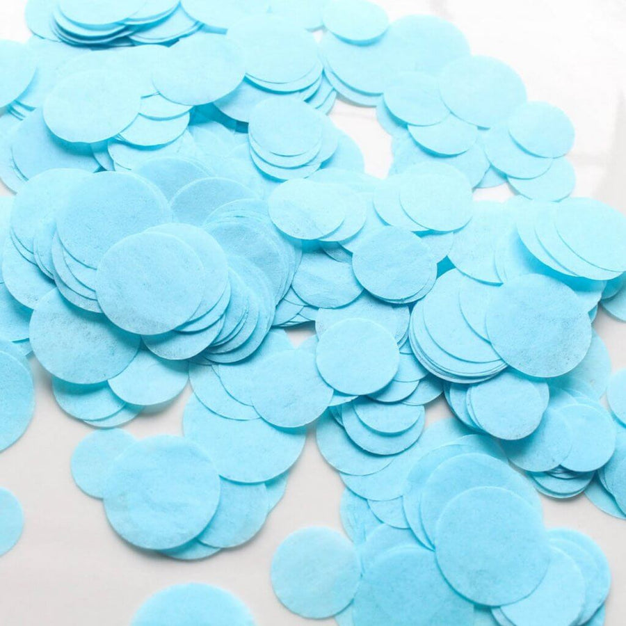 20g Round Circle Tissue Paper Party Confetti Table Scatters - Baby Blue