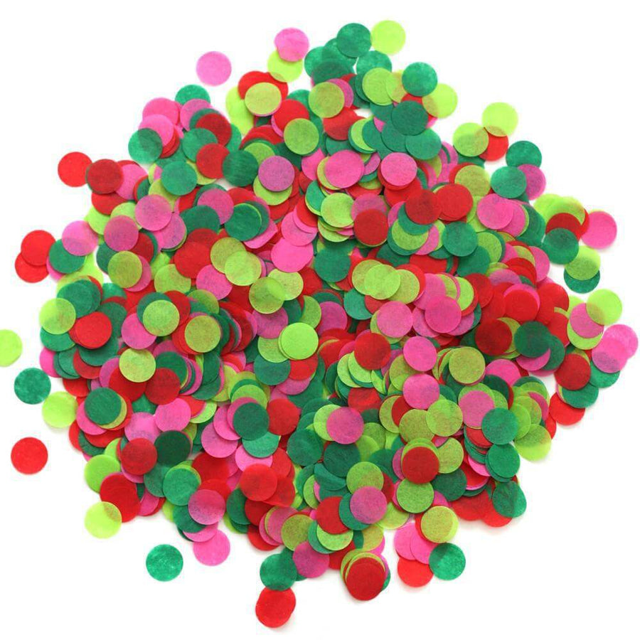 20g Round Circle Tissue Paper Party Confetti Table Scatters - Christmas Red & Green