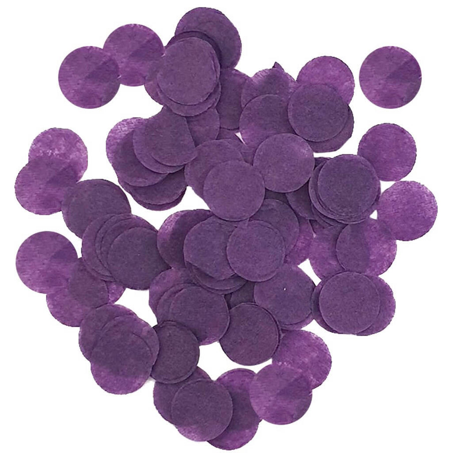 20g Round Circle Biodegradable Tissue Paper Party Confetti Dots Table Scatters Sprinkles - Eggplant Purple