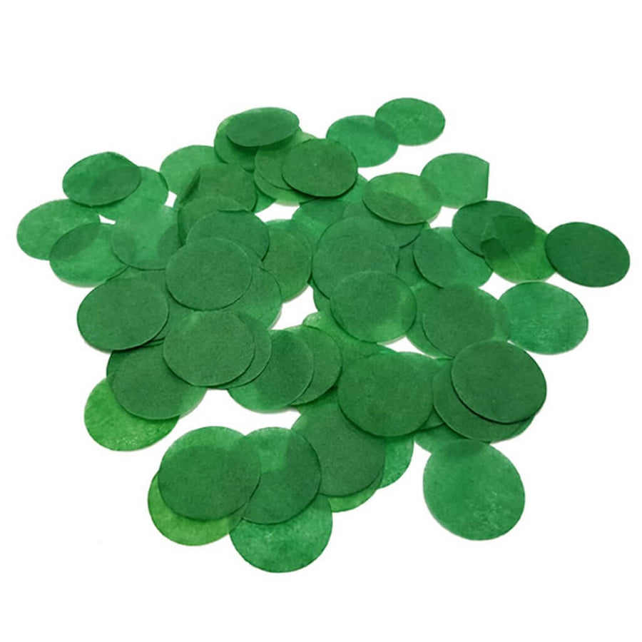 20g Round Circle Biodegradable Tissue Paper Party Confetti Dots Table Scatters Sprinkles - Forest Green