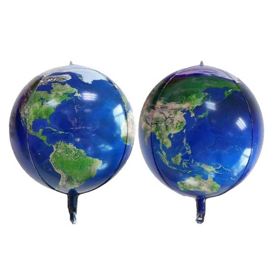 "22"" 4D ORBZ Blue Planet Earth Map Foil Balloon"