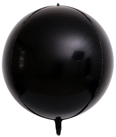 "22"" Online Party Supplies Jumbo Metallic black ORBZ 4D Sphere Round Foil Party Wedding Bridal Baby Shower Birthday Party Balloon"