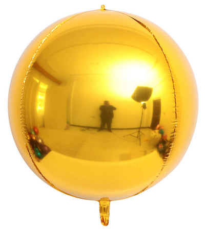 "22"" Online Party Supplies Jumbo Metallic Gold ORBZ 4D Sphere Round Foil Party Wedding Bridal Baby Shower Birthday Party Balloon"