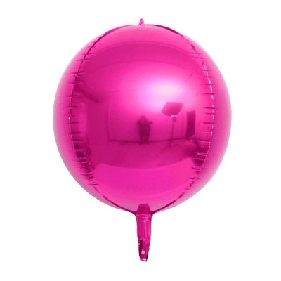 "22"" Online Party Supplies Jumbo Metallic Hot Pink ORBZ 4D Sphere Round Foil Party Wedding Bridal Baby Shower Birthday Party Balloon"
