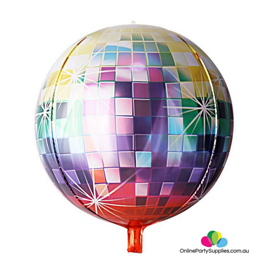"22"" Jumbo Ombre ORBZ Sphere Metallic Disco Ball Foil Balloon - Online Party Supplies"