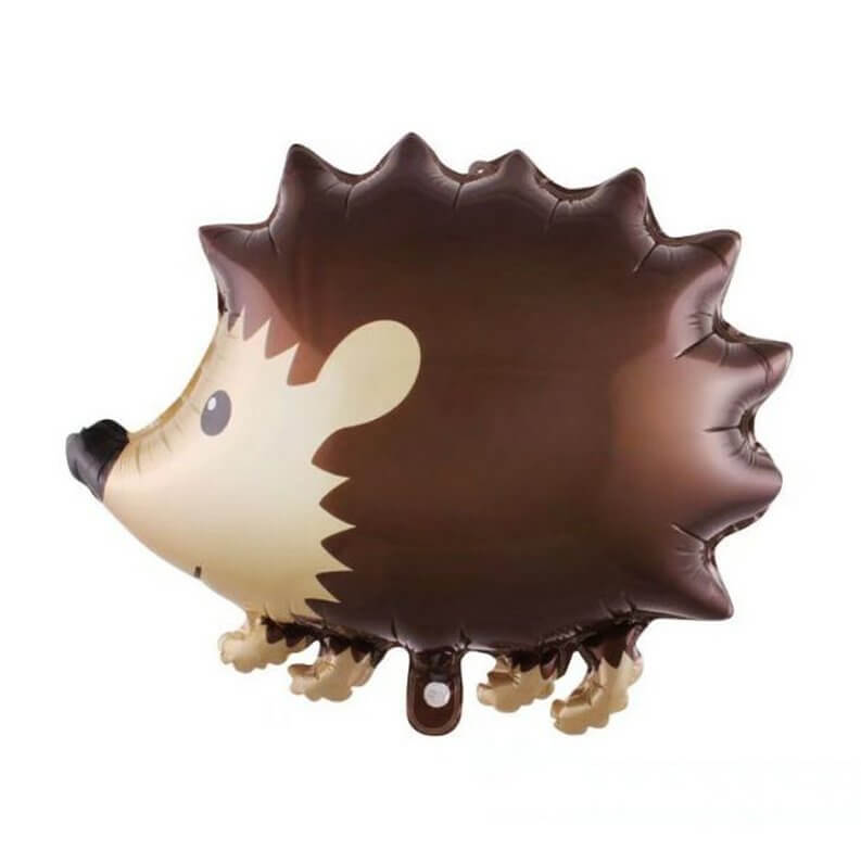 22 Inch Brown Woodland Hedgehog Animal Shaped Foil Balloon - Jungle Animal / Woodland Animal Themed Party Decorations