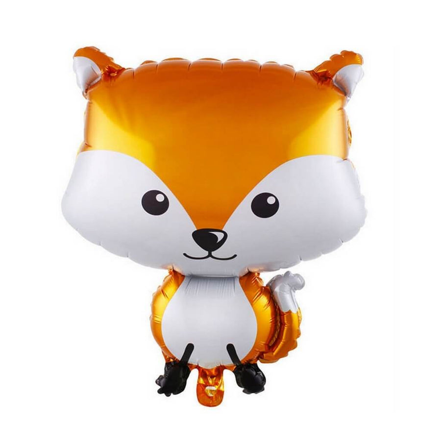 "25"" Orange Woodland Fox Shaped Foil Balloon"