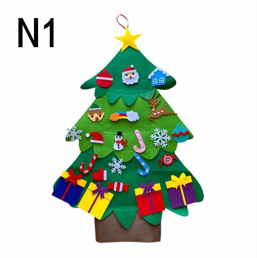 Felt Christmas Tree Kit For Kids Xmas Gifts Online Party Supplies