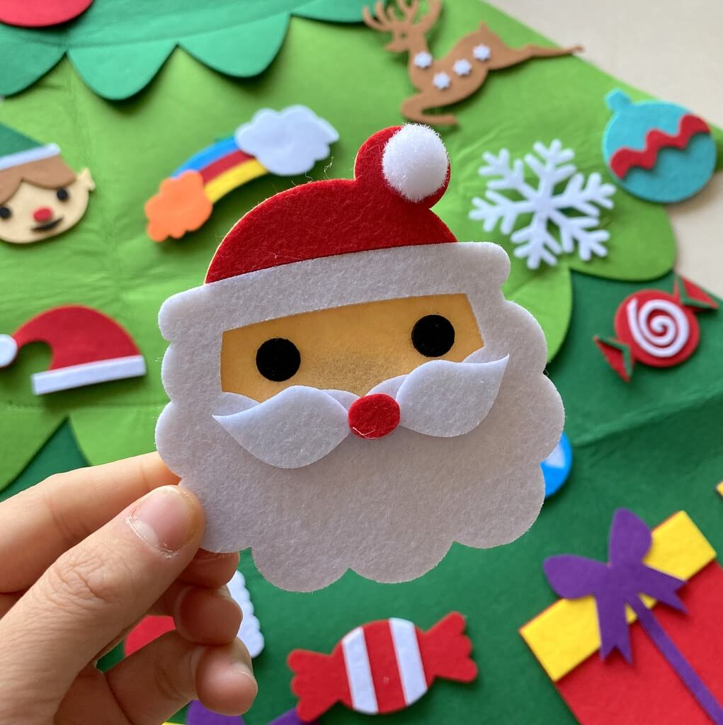 25pcs Felt Christmas Tree Kit For Kids Style N1 Online Party Supplies