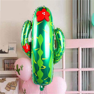 "26"" Online Party Supplies Giant Green Cactus Shaped Foil Balloon"