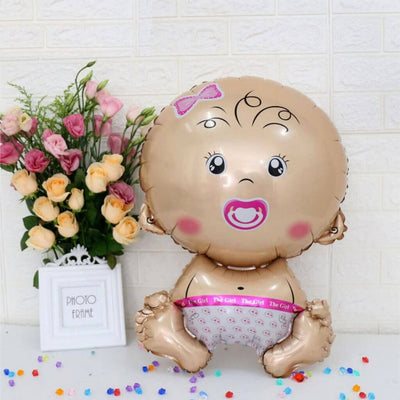 28'' Giant Baby Girl Shaped Helium Foil Baby Shower Birthday Party Balloon