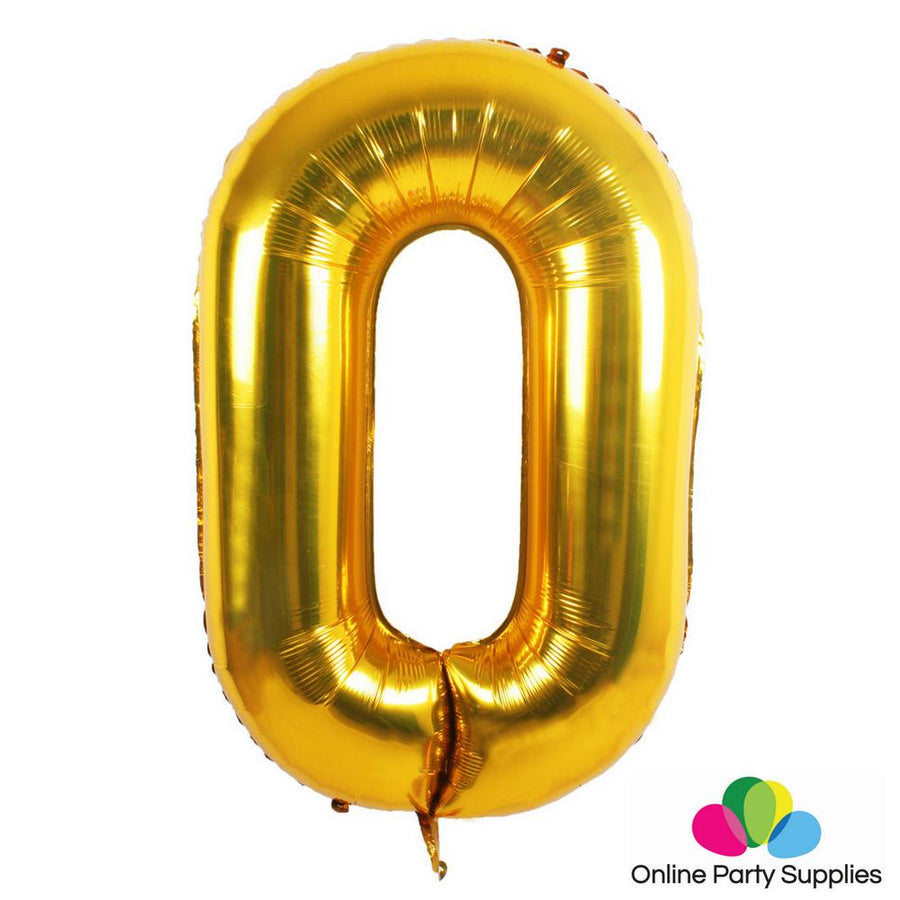 32 Inch Gold 0-9 Number Foil Balloons for Birthday Party