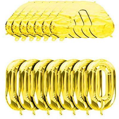 "32"" Online Party Supplies Gold Foil Chain Balloon Links for Hip Hop Dance Disco 80s 90s themed party decorations"
