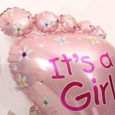 It's A Girl Pink Front Foot 32'' Super Shape Helium Foil Balloon
