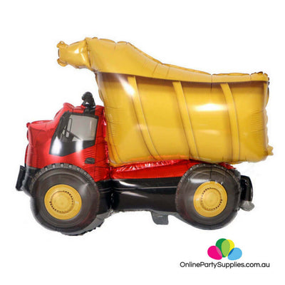 "32"" Jumbo Yellow Dumper Truck Shaped Helium Foil Balloon"