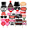 32 Piece Valentine's Day Party Photo Booth Props