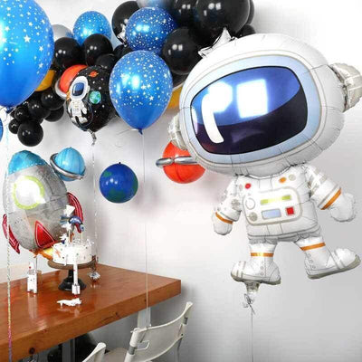 "34"" Online Party Supplies Giant Astronaut Shaped Foil Balloon for spaceman themed party"
