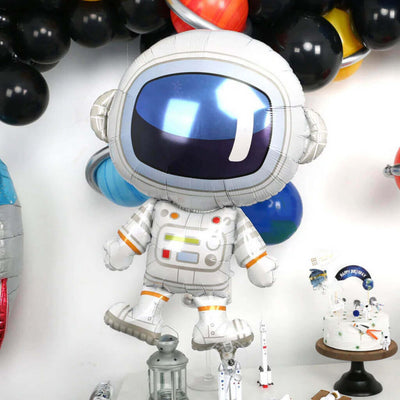"34"" Online Party Supplies Giant Astronaut Shaped Foil Balloon for Outer space themed party"