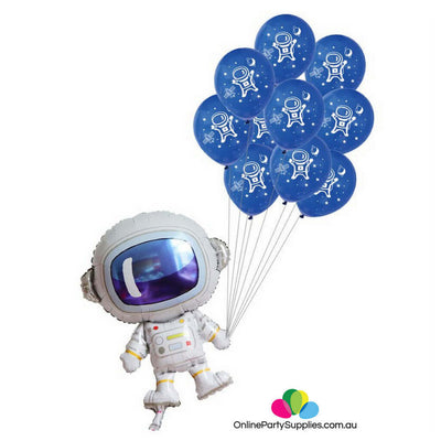"34"" Online Party Supplies Astronaut Spaceman Birthday Party Balloon Bundle"