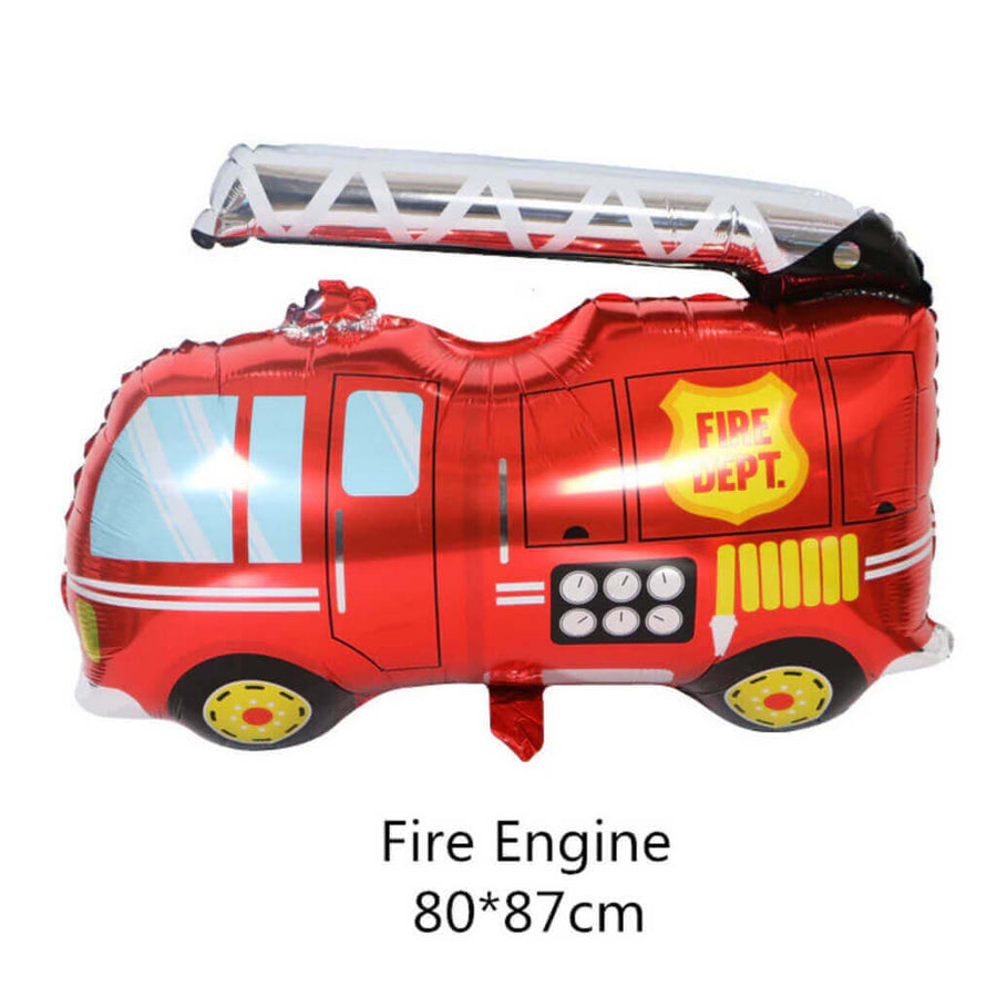 34 Inch Jumbo Red Fire Engine Truck Shaped Helium Foil Balloon