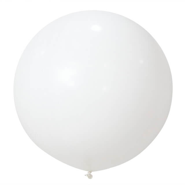 90cm Jumbo White Round Latex Wedding Balloons