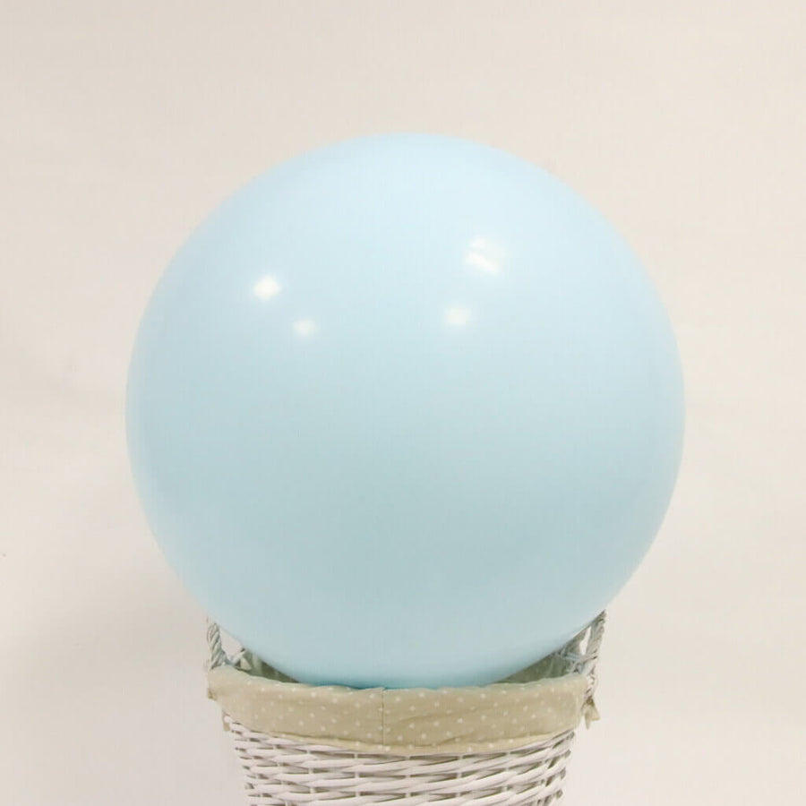"24"" Jumbo Pastel Baby Blue Round Macaron Latex Wedding Balloon"