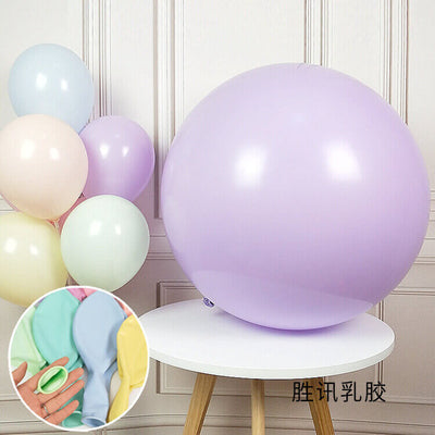 "36"" Jumbo Pastel Lilac Purple Round Macaron Latex Wedding Balloon"