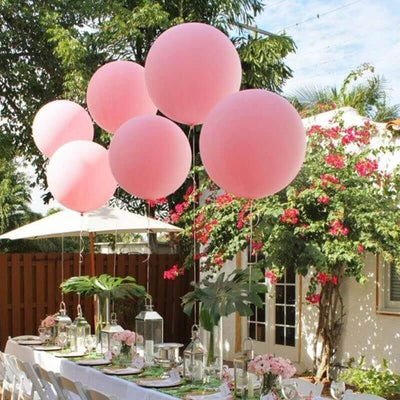 "36"" Jumbo Pastel Pink Round Macaron Latex Wedding Balloon"