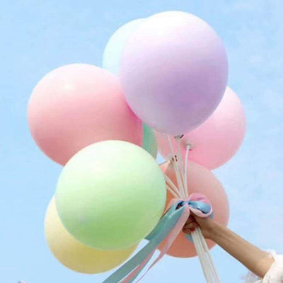 "36"" Jumbo Pastel Lilac Purple Mint Green Pink Yellow Round Macaron Latex Wedding Balloons"
