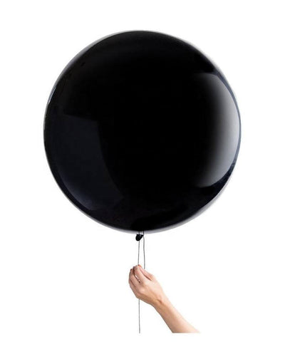 90cm Online Party Supplies Jumbo Round Black baby Shower Gender Reveal Balloon