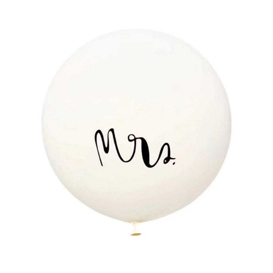 "36"" Jumbo Mr & Mrs Round White Wedding Bridal Shower Balloons (Pack of 2)"
