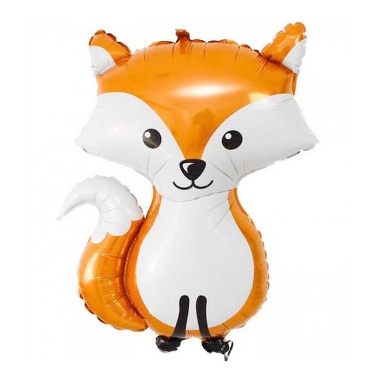 36 Inch Giant Orange Woodland Fox Shaped Foil Balloon - Jungle Animal / Woodland Animal Themed Party Decorations
