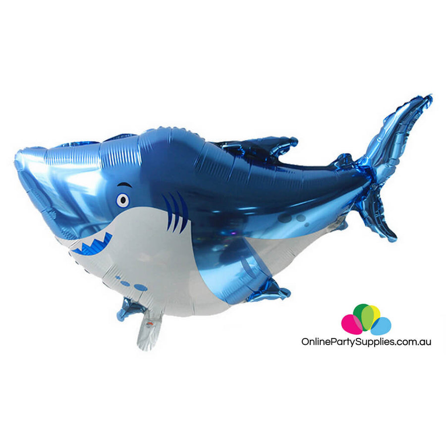 "38"" Jumbo Blue Baby Shark Foil Balloon"