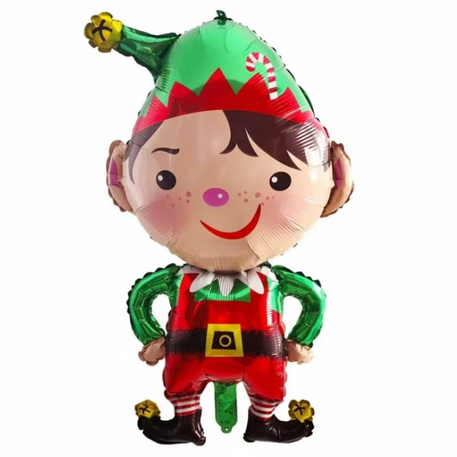 Jumbo Christmas Elf Santa's Little Helper Shaped Foil Balloon