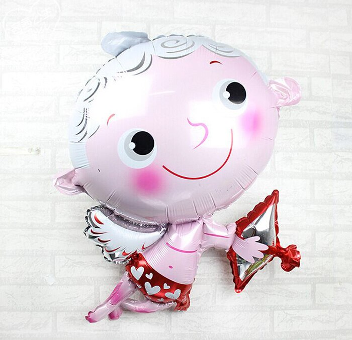 39 Inch Giant Romantic Angel Cupid Foil Balloon - Valentine's Day Party Decorations