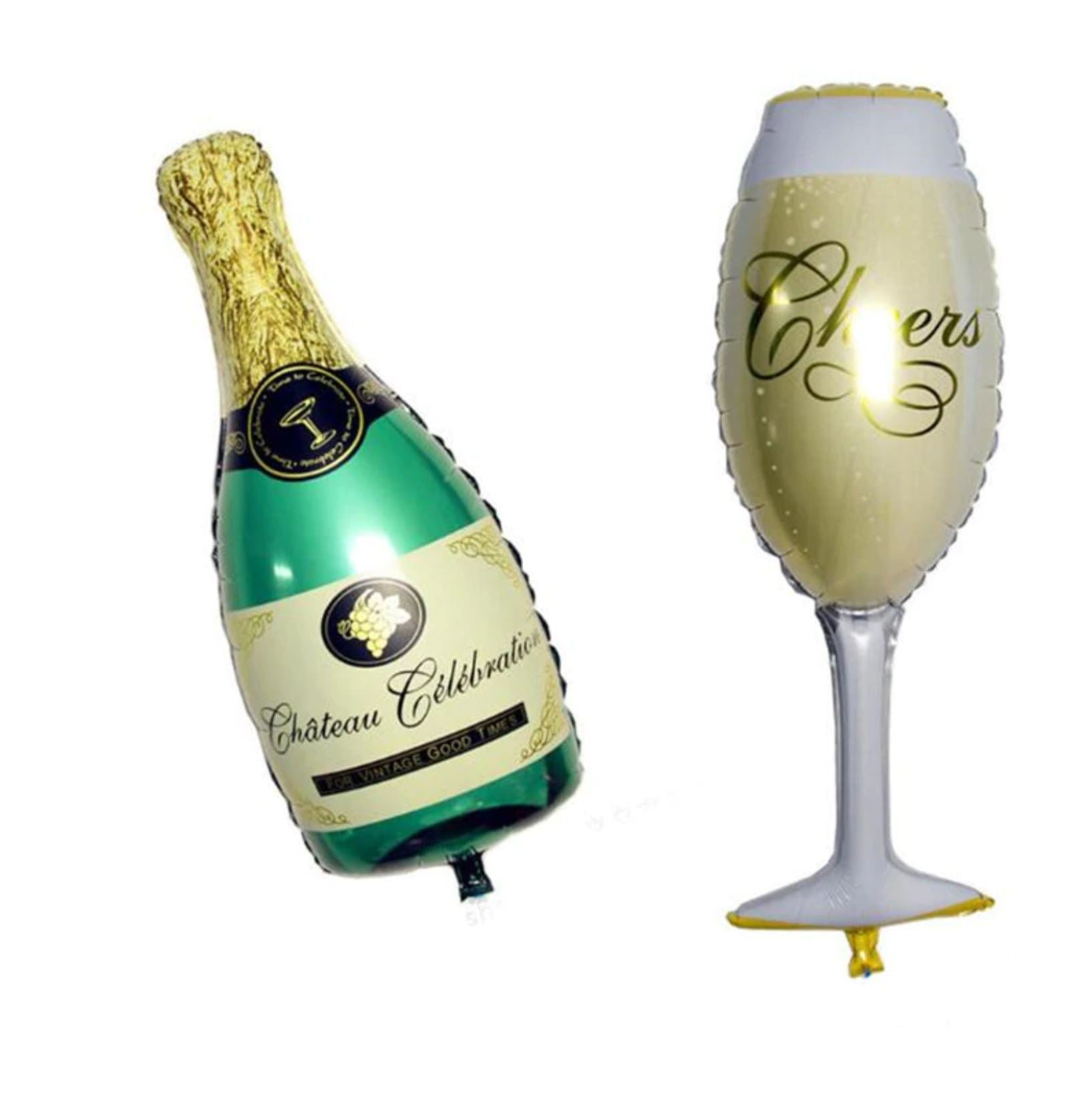 Happy New Year Champagne Bottle Supershape Foil Helium Balloon