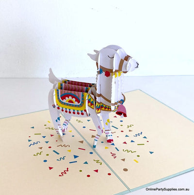 Baby Llama 3D Pop Up Card