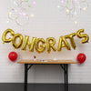 "16 Inch Gold ""CONGRATS"" Foil Letter Balloon Banner - Online Party Supplies"