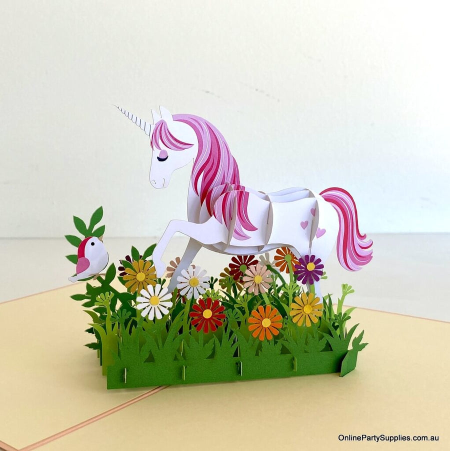My Fairy Garden Unicorn Pop Up Card