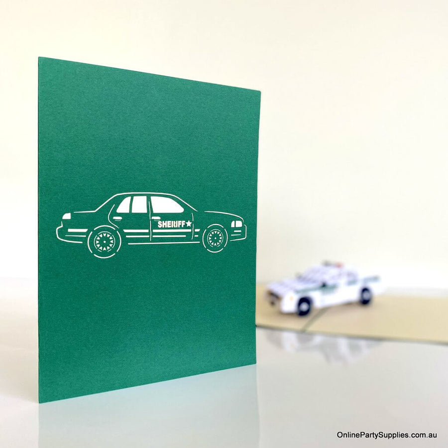 Sheriff Police Car Pop Up Card