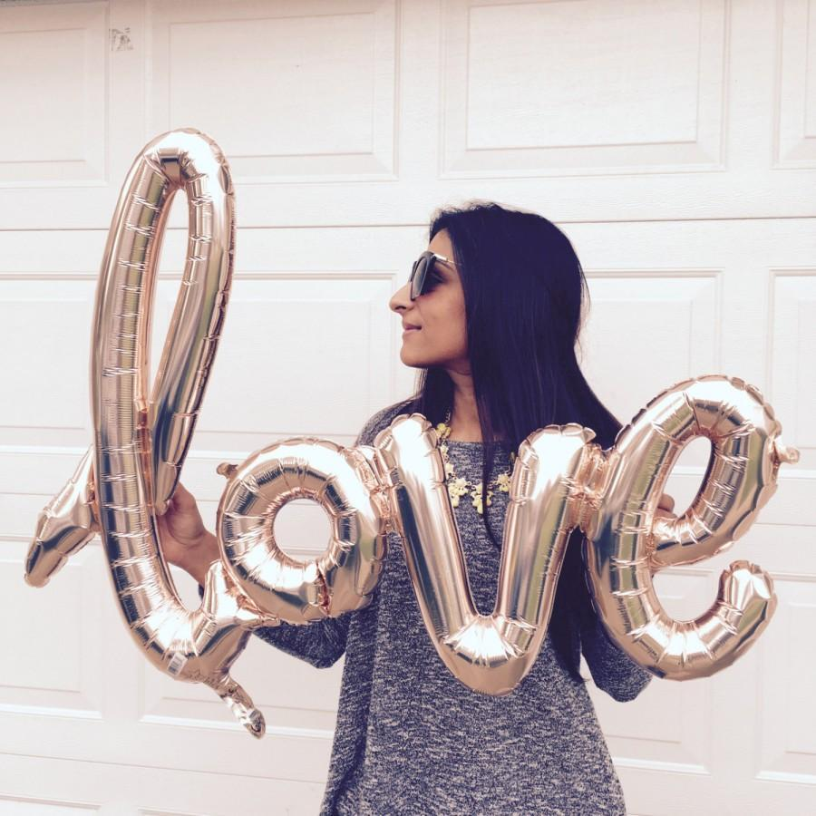 40 Inch Rose Gold Love Script Foil Balloon