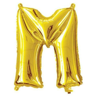 40cm Gold Alphabet A-Z Letter Air-Filled Foil Balloons - Online Party Supplies