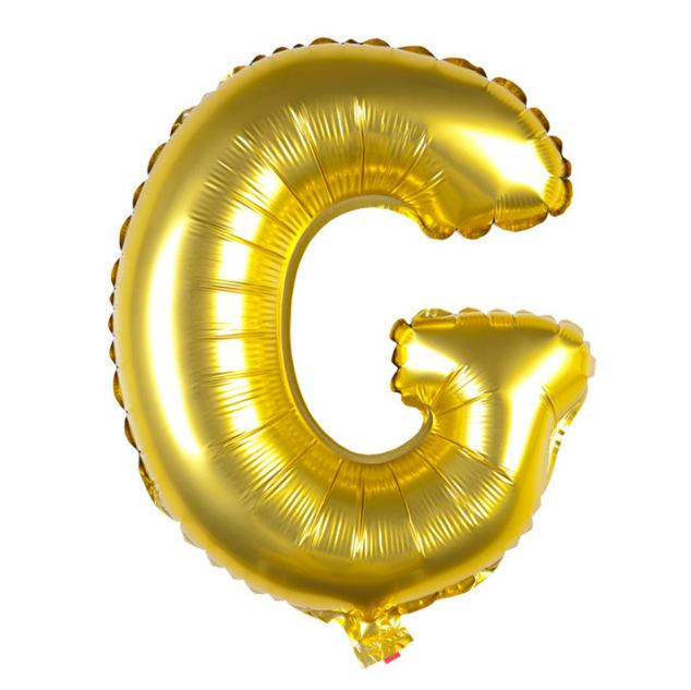 40cm Gold Alphabet Air-Filled Foil Balloon - Letter G - Online Party Supplies