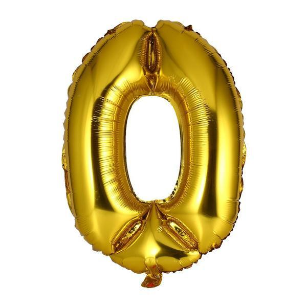 40cm Gold Alphabet Air-Filled Foil Balloon - Letter O - Online Party Supplies